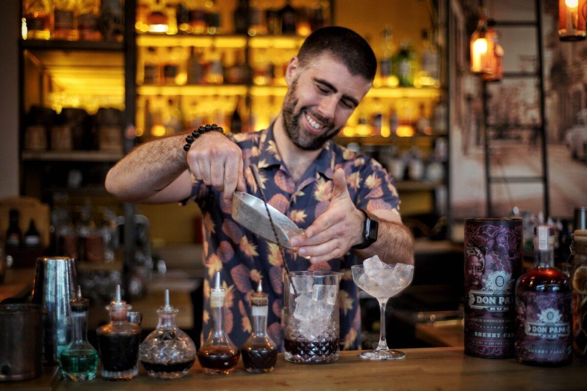 Balthazar Breij Rum barrel West Papa's Manhattan
